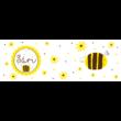 Pulee zománcozott bögre - méhecske választható felirattal
