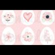 Mintás barkácsfilc - festett pasztell tojások