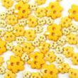Virág formájú mini gombok - sárga