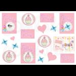Mintás barkácsfilc - Happy Birthday kártyák lányoknak