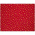 Mini pamutvászon csomag - Golden Stars and Birds on red