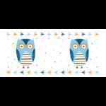 Pulee kerámia bögre - kék bagoly