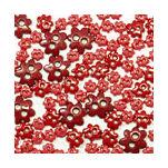 Virág formájú mini gombok - piros