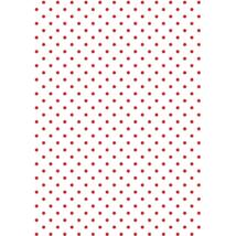 Mintás barkácsfilc - Christmas Basics - piros pöttyös