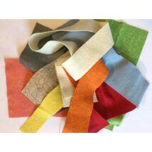 Pihe - puha gyapjúfilc vágási darabok ~ 100gr