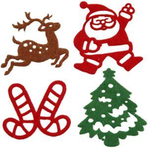 Öntapadós karácsonyi filc dekorációk