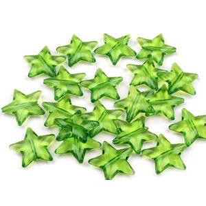 Csillag formájú műanyag dekorációs csomag - zöld