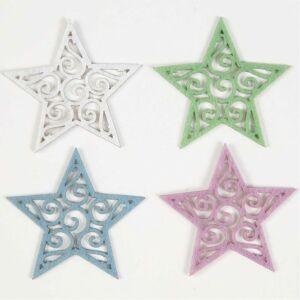 Öntapadós csillag formájú filc dekorációs csomag