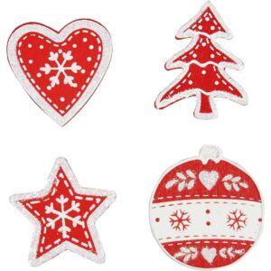 Öntapadós fa furnér dekorációs csomag - Christmas Shapes