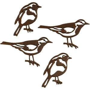 Sötétbarna fa madár dekorációs csomag