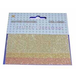 Öntapadós glitteres dekorációs kiegészítő - arany