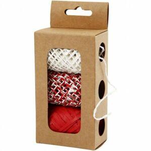 Papír és raffia kötöző csomag - Red Harmony