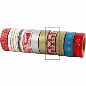 Karácsonyi dekortapasz - piros fenyők