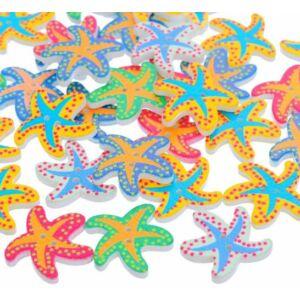 Tengeri csillag formájú mintás fa formagomb csomag