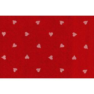 Piros alapon szív mintás barkácsfilc
