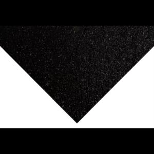 Glitteres barkácsfilc - fekete