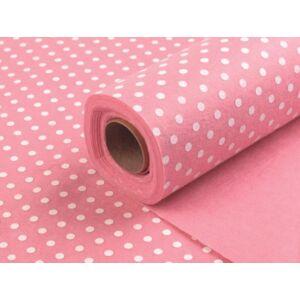 Mintás barkácsfilc - pink alapon pöttyös
