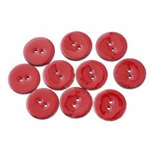 Pirosra festett kókusz gomb