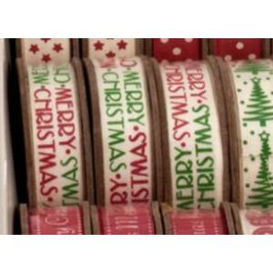 100% pamut szalag guriga - színes Merry Christmas