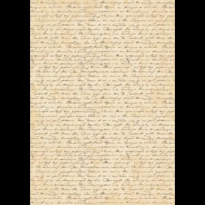 Mintás barkácsfilc - kézírás régi papíron