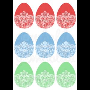 Mintás barkácsfilc - csipkés tojások