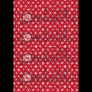 Mintás barkácsfilc - piros alapon fehér hópihék
