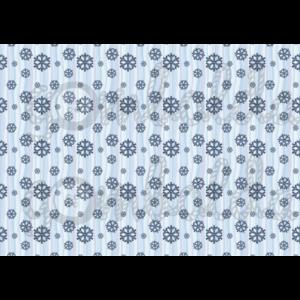 Mintás barkácsfilc - kék hópihék