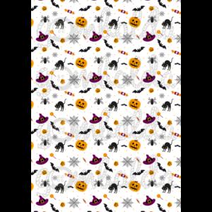 Halloween mintás barkácsfilc - vegyes