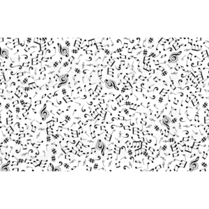 Mintás pamutvászon panel - hangjegyek