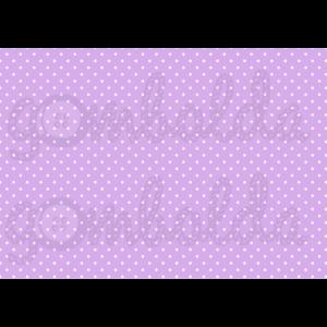 Mintás barkácsfilc - lila alapon fehér apró pöttyös