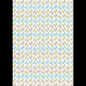 Mintás barkácsfilc - színes mákvirágok