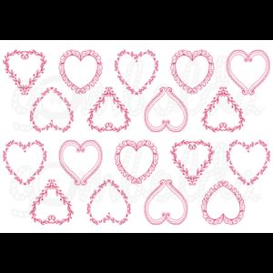 Mintás barkácsfilc - romantikus szívek pirosban