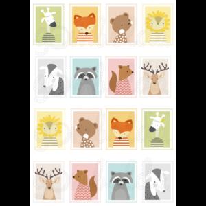 Mintás barkácsfilc - állatos bélyegek