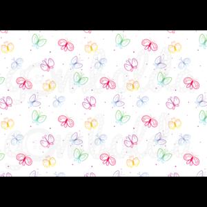 Mintás barkácsfilc - színes pillangók pöttyökkel