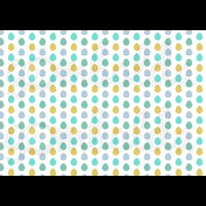 Mintás barkácsfilc - pici kék sárga tojások sorban