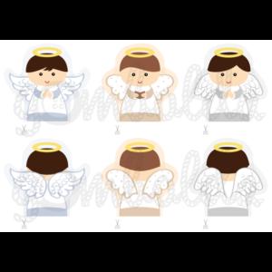 Mintás barkácsfilc - karácsonyi ujjbábok - kisfiú angyalok