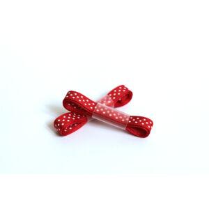 Piros fehér pöttyös ripsz szalag