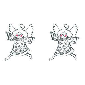 Yessil - angyalka mintás barkácsfilc