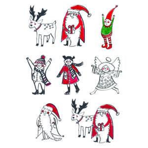 Yessil - vegyes karácsonyi mintás barkácsfilc