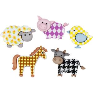Dress It Up! formagombok - Funky farm animals