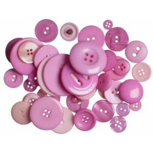 Trimits Bag of Craft Buttons - Dark Pink