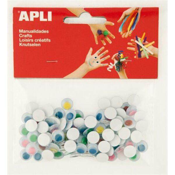 Öntapadós mozgó szem csomag - vegyes színek