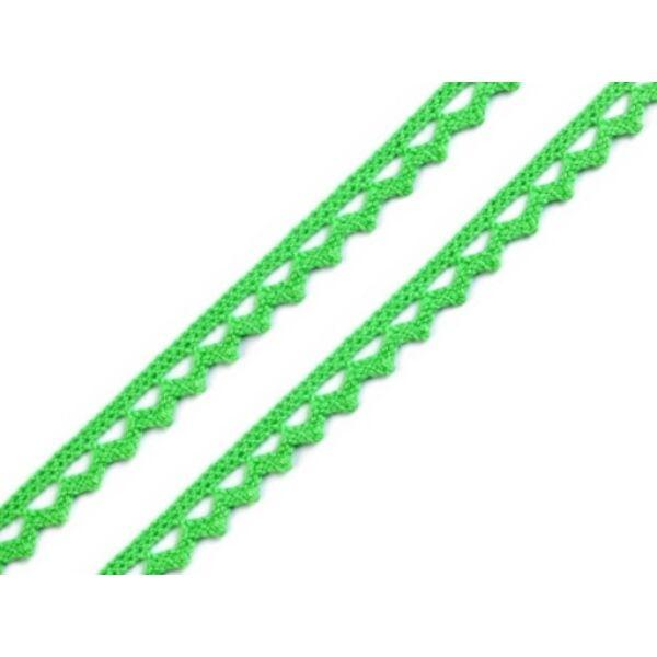 Világoszöld pamut vertcsipke szalag - 8mm