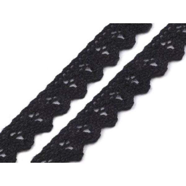 Fekete pamut vertcsipke szalag