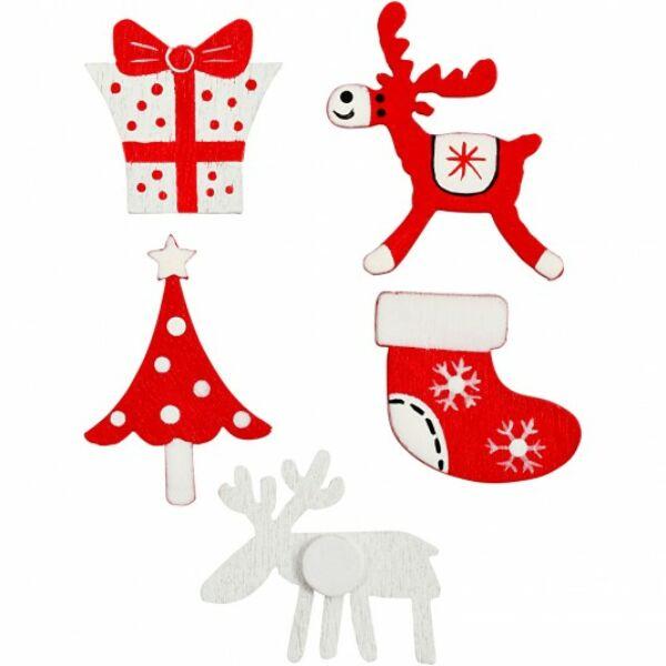 Öntapadós fa furnér dekorációs csomag - Christmas - 5db