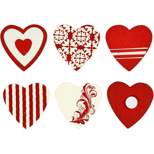 Öntapadós fa furnér dekorációs csomag - Copenhagen Hearts