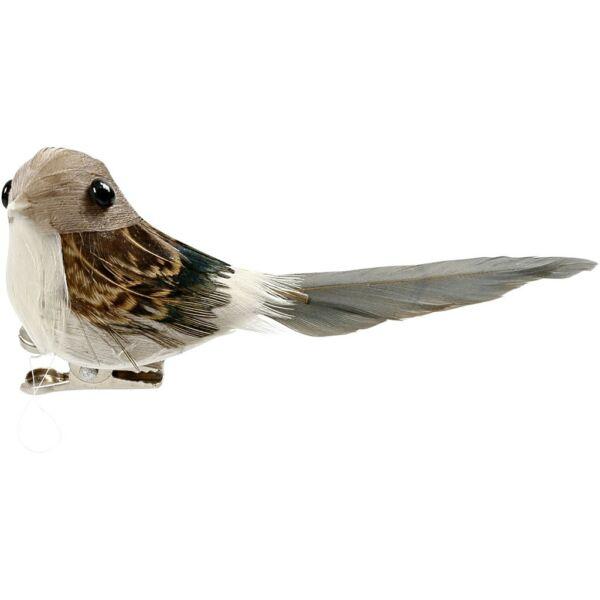 Dekorációs madárka - drapp