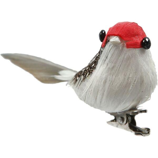 Dekorációs madárka - piros