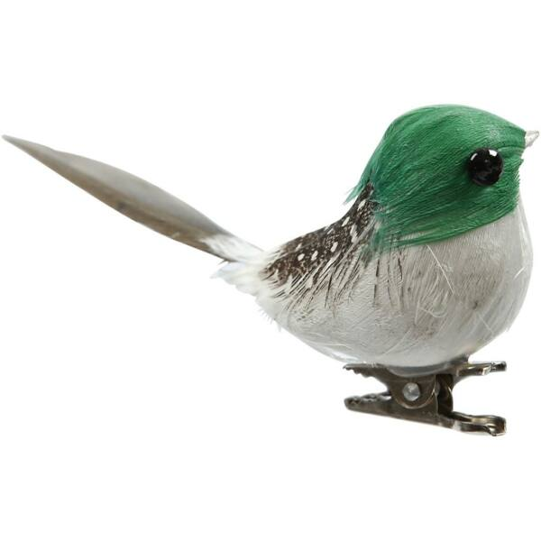 Dekorációs madárka - zöld
