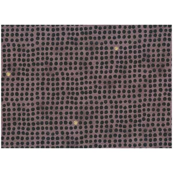 STOF fabric - Golden Elements – Dot Grid Black Lilac